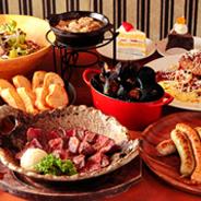 熟成肉と自家製ソーセージのコース